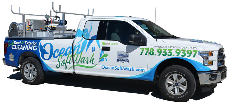 Ocean Softwash Roof and Exterior Cleaning Truck